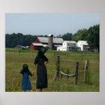 Vida de la granja de Amish Poster