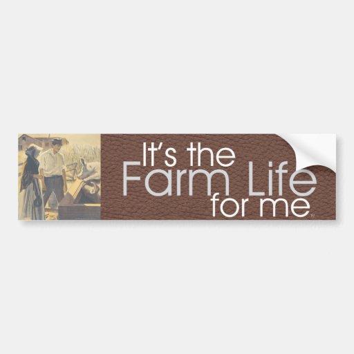 Vida de la granja de la CAMISETA Pegatina Para Auto