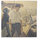 Vida de la granja de la CAMISETA Servilleta Imprimida