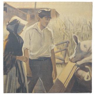 Vida de la granja de la CAMISETA Servilleta De Papel