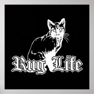 Vida de la manta - gato de Gangsta Póster
