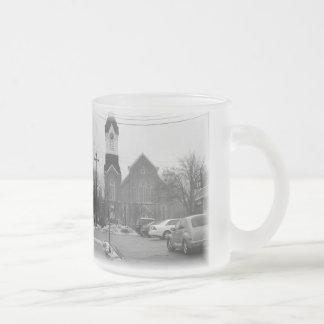 Vida de la pequeña ciudad taza de cristal