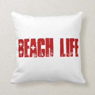 Vida de la playa almohada
