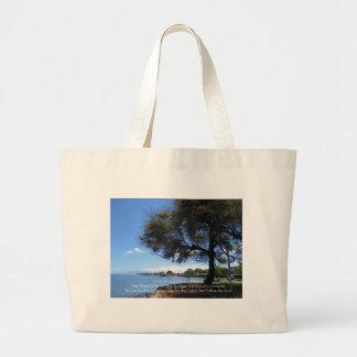 Vida de la playa bolsa tela grande