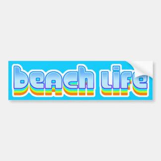 Vida de la playa pegatina de parachoque
