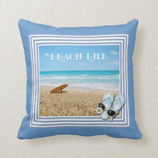 Vida de la playa almohadas