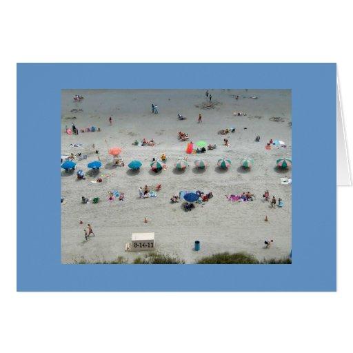 Vida de la playa felicitación