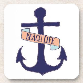 Vida de la playa posavasos de bebidas