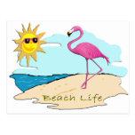 Vida de la playa postal