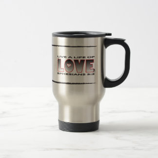 Vida de la taza cristiana del viaje del amor