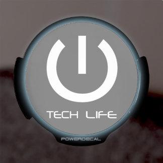 Vida de la tecnología botón de encendido significa decal LED para ventana