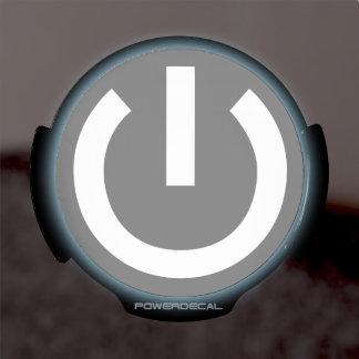 Vida de la tecnología botón de encendido significa pegatina LED para ventana