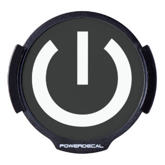 Vida de la tecnología botón de encendido significa sticker LED para ventana