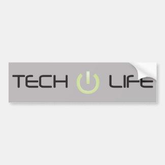 Vida de la tecnología (gris) pegatina para auto