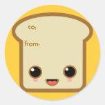 vida de la tostada pegatina redonda