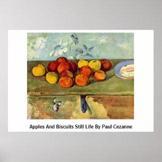 Vida de las manzanas y todavía de las galletas de  poster