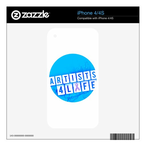 Vida de los artistas 4 skins para eliPhone 4S