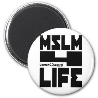 Vida de los musulmanes 4 imán redondo 5 cm