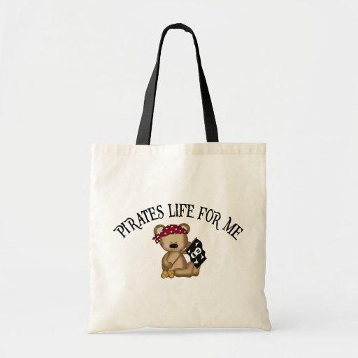 Vida de los piratas para mí bolsa tela barata