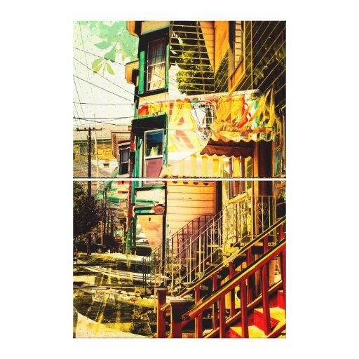 vida de los victorians - distrito San Francisco de Impresión En Lona