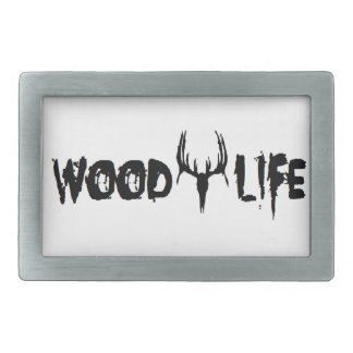 Vida de madera hebillas cinturón rectangulares