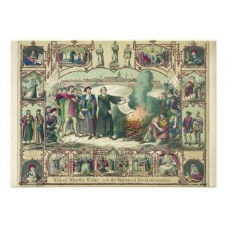 Vida de Martin Luther y héroes de la reforma Invitaciones Personalizada