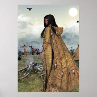 Vida de nativo americano impresiones