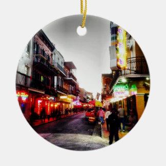 vida de noche de image.jpg New Orleans Adorno Redondo De Cerámica
