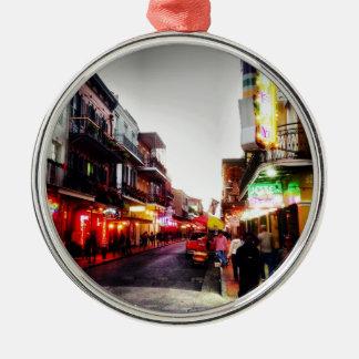 vida de noche de image.jpg New Orleans Adorno Redondo Plateado