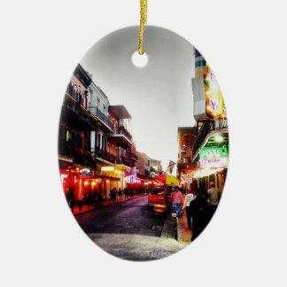 vida de noche de image.jpg New Orleans Adorno Ovalado De Cerámica