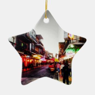 vida de noche de image.jpg New Orleans Adorno De Cerámica En Forma De Estrella