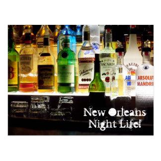 ¡Vida de noche de New Orleans! Tarjetas Postales
