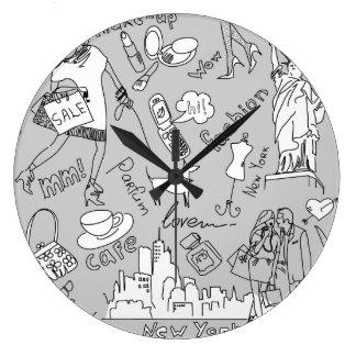 Vida de Nueva York Reloj De Pared