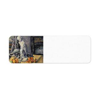 Vida de Paul todavía Cezanne- con el Cupid del yes Etiqueta De Remite