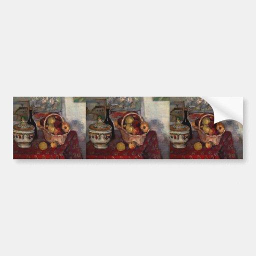 Vida de Paul todavía Cezanne- con la sopera de sop Pegatina Para Auto