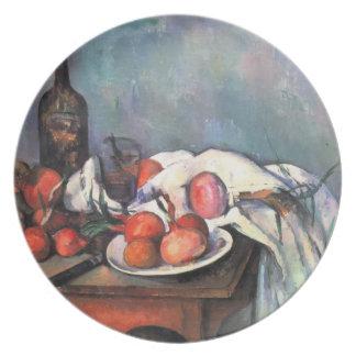 Vida de Paul todavía Cezanne- con las cebollas roj Plato De Comida