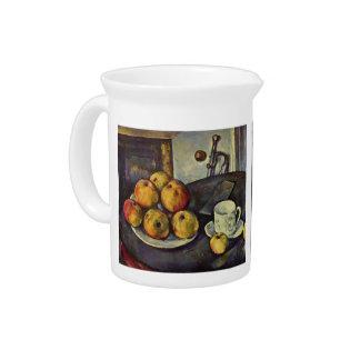 Vida de Paul todavía Cezanne- con las manzanas Jarras De Beber