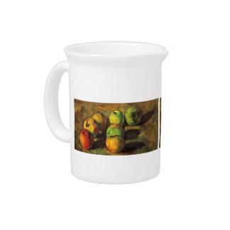 Vida de Paul todavía Cezanne- con siete manzanas Jarra Para Bebida