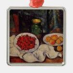 Vida de Paul todavía Cezanne- con una placa de cer Ornaments Para Arbol De Navidad