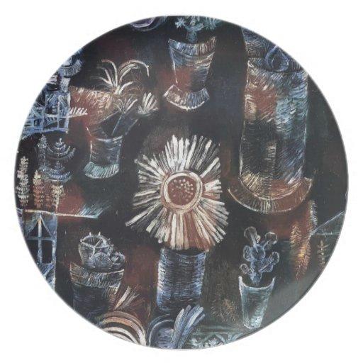 Vida de Paul todavía Klee- con la floración del ca Platos