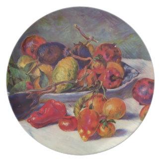 Vida de Pedro-Auguste todavía Renoir- con la fruta Plato Para Fiesta