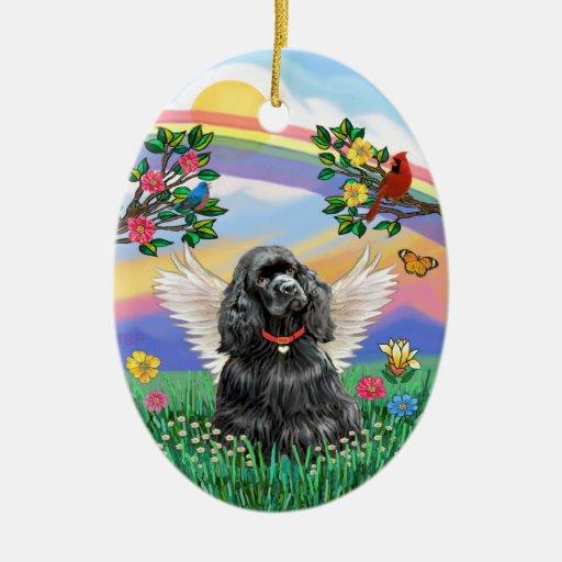 Vida de Rianbow - cocker spaniel negro Ornamentos De Reyes Magos