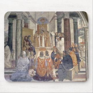 Vida de St. Benedicto (fresco) (detalle) Tapete De Ratón