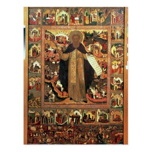 Vida de St. Sergius de Radonesh, 1640s Postales