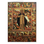 Vida de St. Sergius de Radonesh, 1640s Tarjetón
