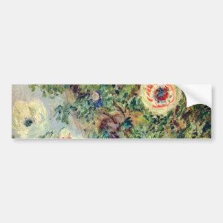 Vida de Stilll con las anémonas - Claude Monet Pegatina Para Auto