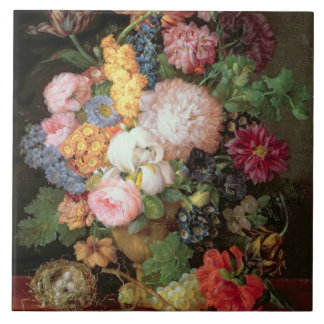Vida de T30763 todavía A de las flores y de la fru Azulejo Cuadrado Grande