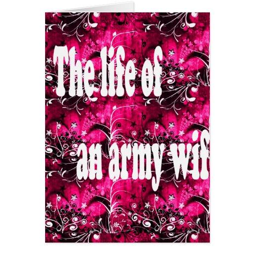 vida de una esposa del ejército tarjeta de felicitación