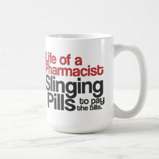 Vida de una taza de café del farmacéutico (roja)