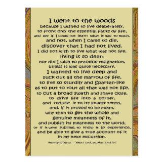 Vida de Walden en las maderas